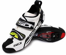 Sidi T-4 Air Carbon Comp Triathlon Bike Shoes White/Black