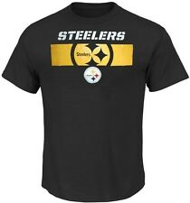 Pittsburgh Steelers NFL Majestic Mens Short Yardage Shirt Black Big & Tall Sizes