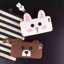 New Cute Cartoon Rabbit & Bear Soft Silicone Case Cover For Apple iPhone 6s/Plus