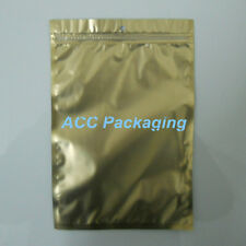 Flat Clear/Gold/Silver Resealable Plastic Zip Lock Bags With Hang Hole 16cmx24cm
