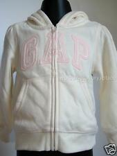 BABY GAP Toddler Girls Full Zip Hoodie ARCH Logo IVORY & Pink 2 3 yrs NEW NWT