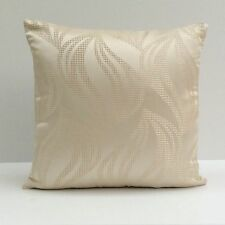 Off White (Ivory) Satin Blend Decorative Throw Pillow Cover with Pattern,Modern