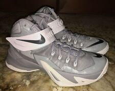 NEW Youth 4.5 NIKE LeBron Zoom Soldier VIII Basketball Shoes Sneakers Grey White