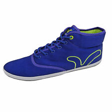 Mens Voi Jeans Fiery Miracle Designer Branded Blue Canvas Hi Top Trainers Shoes