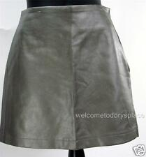 KC Parker by Hartstrings Girls Pleather Skirt Shiny Metallic GRAY 12 16 NEW R$58