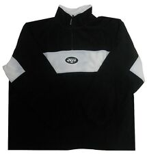 New York Jets NFL Team Apparel 1/4 Zip Fleece Pullover Black Sizes 4XL
