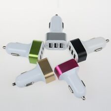 3 Port Dual USB DC Car Charger Adapter Accessory For Apple iPhone 6 5S 5 4S AL