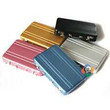 Mini Aluminum Suitcase Briefcase Business Credit Bank Card Holder Box Case 6916