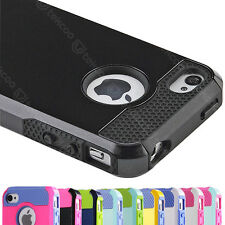 PC Shockproof Rugged Hard Impact Case Protective Cover For Apple iPhone 4 4G 4S