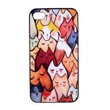 Colorful Cute Cat Pattern Hard Back Case Cover Skin for Apple iPhone 4 4S 5 5S