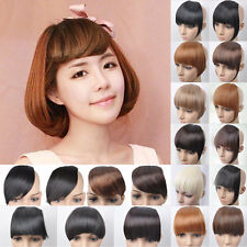 Woman New Design Front Neat Clip In On Bang Fringe Hair Extensions Bangs Fashion