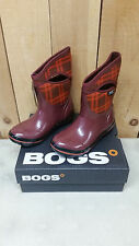 Bogs Women's Classic Plaid Mid Insulated Waterproof Winter Boot Oxblood Ast Size