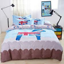Single Queen King Bed Set Pillowcase Quilt Duvet Cover Stylish English Style O