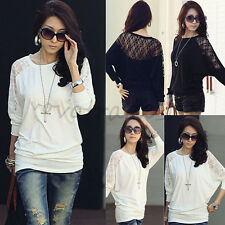 Fashion Women Ladies Blouse Tops Batwing Long Sleeve Tops Jumper Pullover Shirt