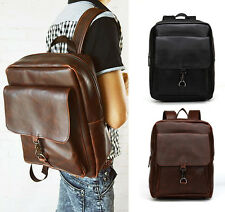 Mens Travel Synthet PU Leather Briefcase Laptop Shoulder Messenger Handbag Bag