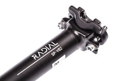 Radial Cycles SP-V02 Bike Seatpost 350mm 0mm setback Bicycle 27.2/30.9/31.6mm