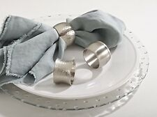 NEW Classic Round Shape Silver Tone Napkin Rings, Set of 4, 3 Styles