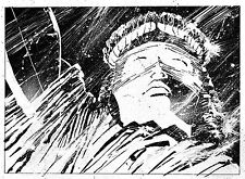 A4 Poster – Statue of Liberty New York USA Comic Style (Picture Print Art)