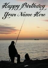 Fishing Occasion Personalised Greeting Card Birthday Fathers Mum Nan PIDE20