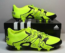 NEW IN BOX MEN'S ADIDAS X 15.3 FG/AG SOLAR YELLOW SOCCER CLEATS SHOES SZ 8-11