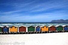 BEACH HUTS WALL ART CANVAS WALL ART CANVAS PICTURE PRINT 20x30inch Ready To Hang