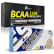 BCAA + Alkagen 60-180 Caps Amino Acids Anti-Catabolic Post-Workout Recovery