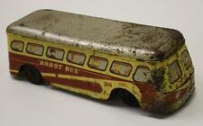 Vintage Tin Litho Toy Key Wind Robot Bus Works