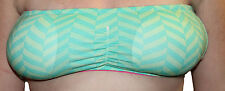 Tarea Graphic Chevron Pattern Padded Bandeau Bra Mint Green Medium 5816 Y24