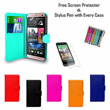 Premium Leather PU Tpu Gel Flip Wallet Case Cover Card Holder For HTC Desire 620
