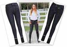 Natasha Damask Knee Patch Breeches Equine Couture NEW Patterned Design in BLACK