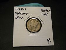 1918- S Mercury Silver Dime!!! Better Date!!! Nice Early Date!!! 90% Silver!!!
