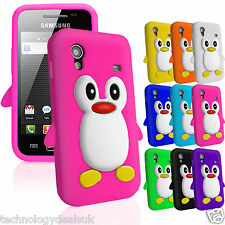 Cute Penguin 3D Silicone Cover For Samsung Galaxy Ace S5830 Gel Soft Skin Case