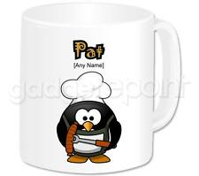 Personalised Gift Cook Chef Penguin Coffee Tea 11oz Mug Any Name Any Message