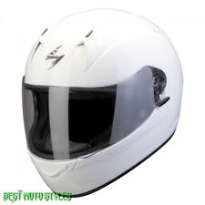 SCORPION EXO-410 AIR SOLID Motorcycle Motorbike Scooter Integral helmet White