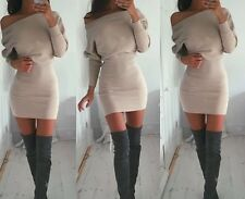 Sexy Women Lady Bodycon Long Sleeve Solid Party Cocktail Casual Short Mini Dress