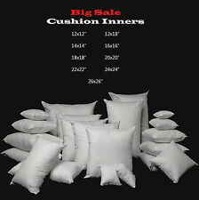 """New Hollowfibre Cushion Pad Inserts Fillers Inner 12"""" 16"""" 18"""" 20"""" 22"""" 24"""" 26"""" 28"""