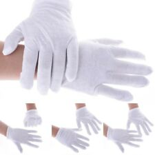 1/5/10/30 Pairs White Coin Jewelry Inspection Cotton Lisle White Gloves Mitten