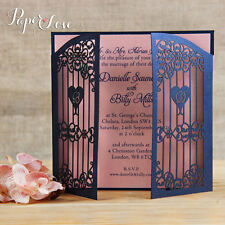 Personalised Ornamental Gate Laser Cut Evening Wedding Invitation Free Envelopes