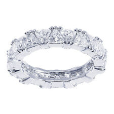 3.50 Carat Trillion Cut Cubic Zirconia Eternity Band in Sterling Silver