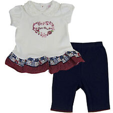 New Nannette Baby Girls Outfit Clothes 2 pcs set top legging 12 18 24 months