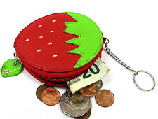 Hand Crafted Very Cute Fruit Shape Coin-Purse with Key Chain Apple, Watermelon..