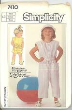 Simplicity 7410 Child's Jumpsuit in Two Lengths  6, 6x  Sewing Pattern