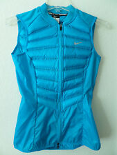 Nike Women's Aeroloft 800 Fill Down Running Vest Blue 616257 407