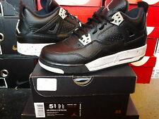 Nike Air Jordan IV 4 Retro BG GS Oreo Black Tech Grey v vi viii ix xi 408452 003