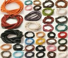Real Hide Leather Braided Lace Cord Craft DIY Jewelry 3mm/4mm/5mm/6mm 1m-5m