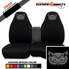 91-15 Ford Ranger Black 60-40 Seat Covers W Owl 2 Design Choose From 9 colors