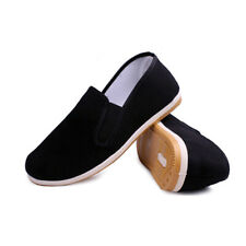 Arts Rubber Sole Kung Fu Wushu Canvas Black Shoes Exercise Men Chinese
