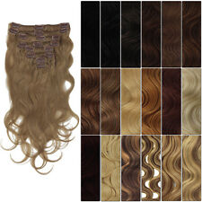 GB001 Full Head Clip in 100% Remy  Body Wave Human Hair Extensions 120 g
