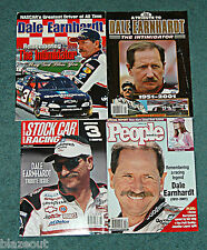 Dale Earnhardt 4 Magazine Book Collectible Lot: NASCAR Racing Legend Intimidator