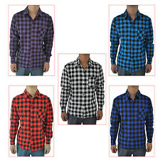 Mens Vintage Plaid Long Sleeve Shirt Slim Fit Shirts Men High Quality Shirt